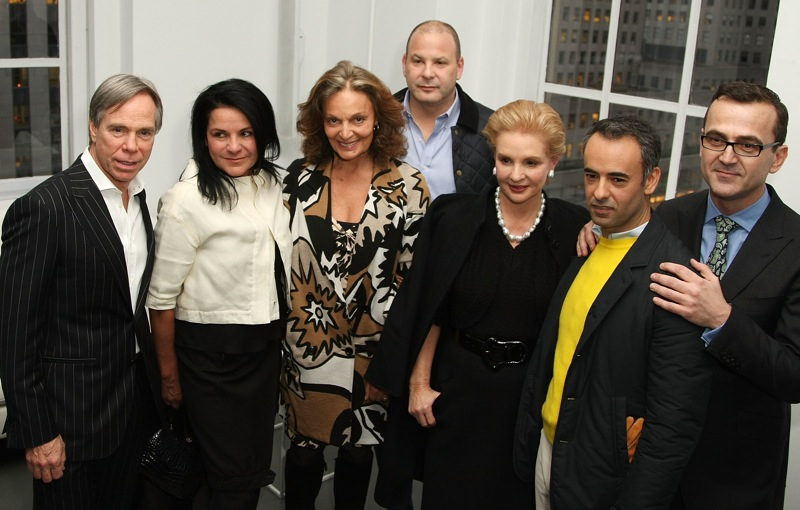 2008 with Tommy Hilfiger, Diane Von Furstenberg, Francisco Costa