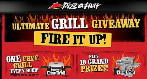 Pizza Hut's Giving Away Grills Every Hour