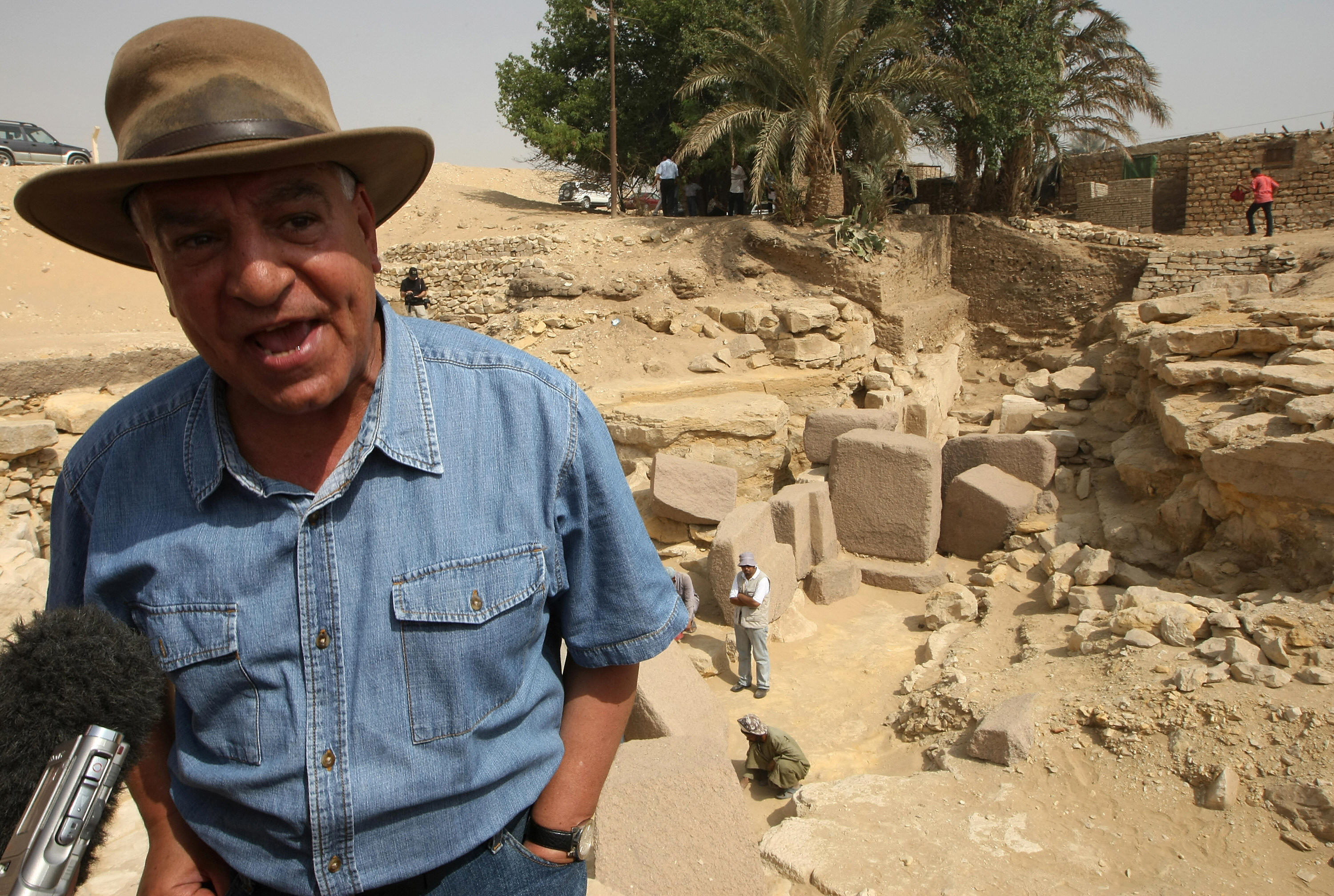 Egyptian Antiquities Council chief Zahi Hawass.