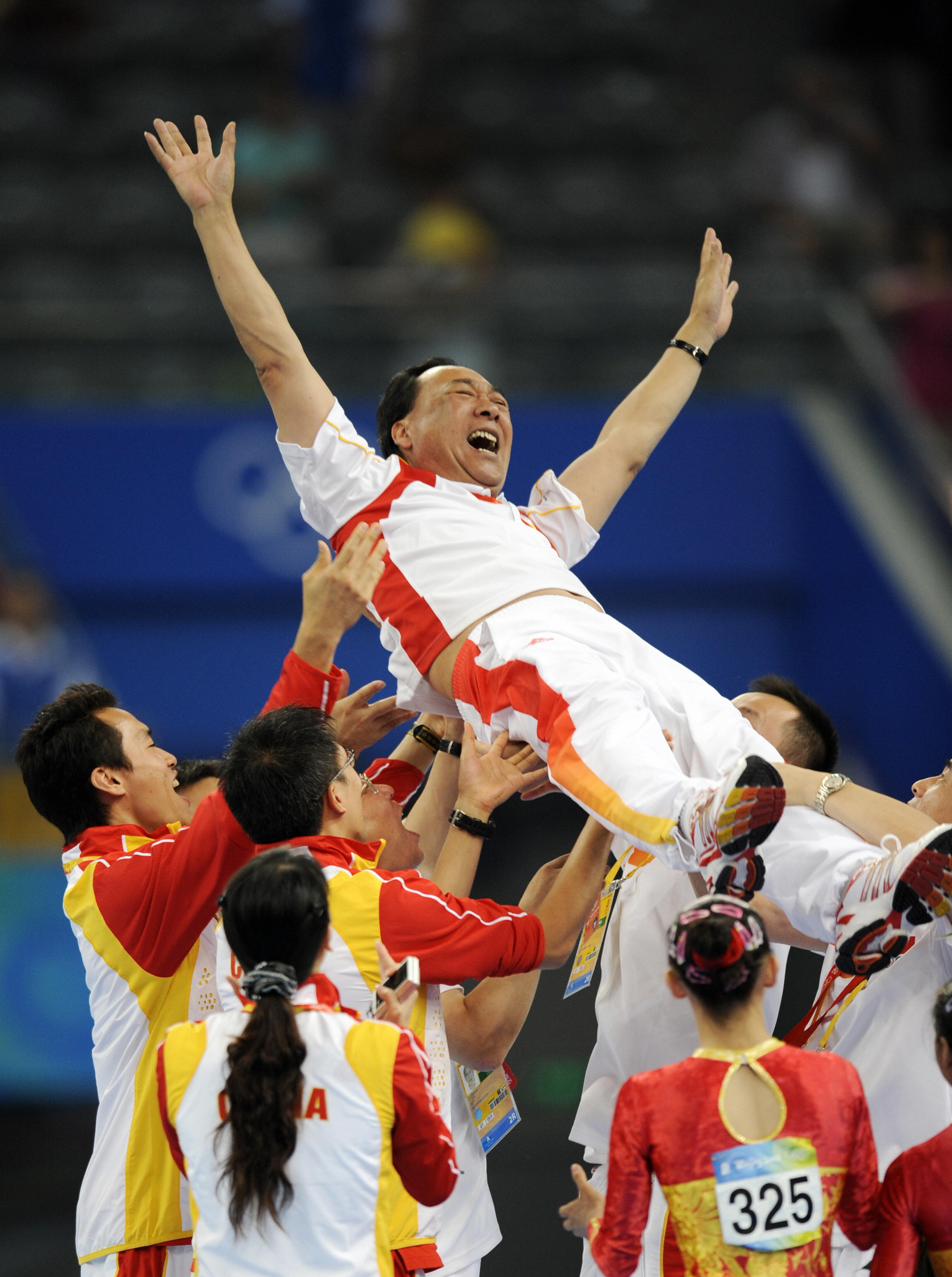 The Chinese team lift coach Gao Jian.