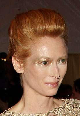 Tilda Swinton at the Costume Institute Gala