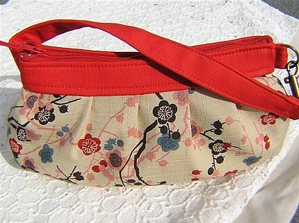 Plum Blossoms Wristlet