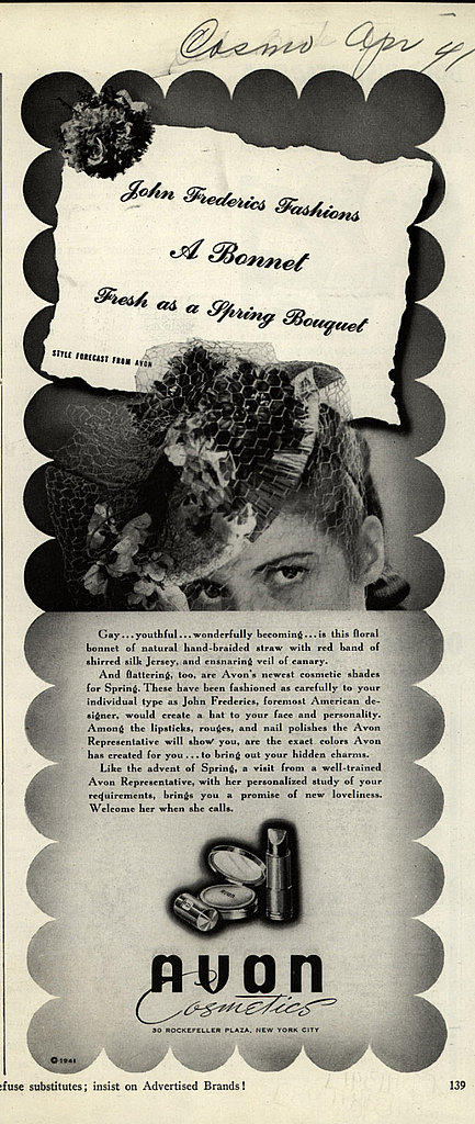 Beauty Ads From the Forties