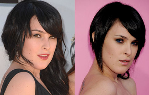 Rumer Willis in Blue Contact Lens