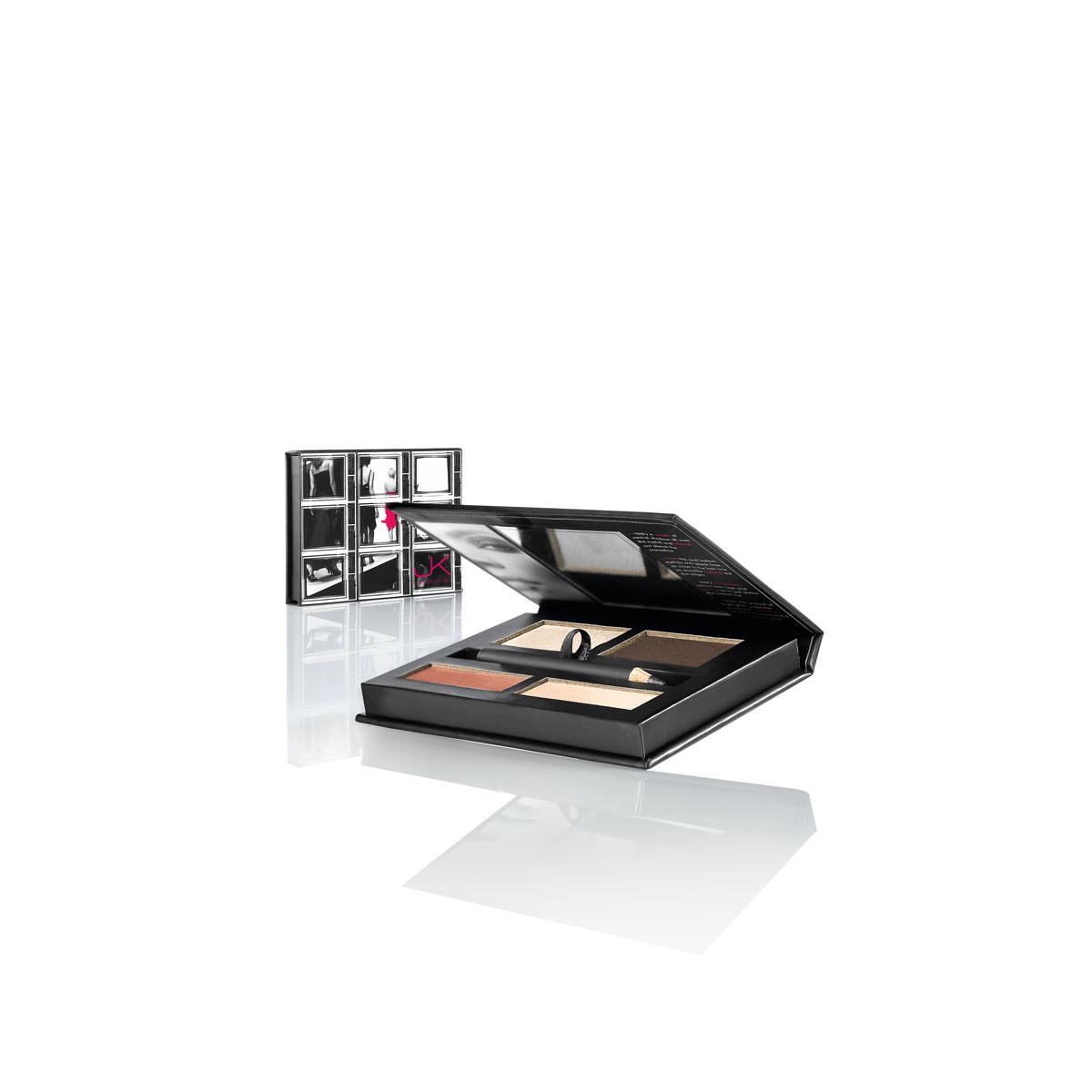 JK Jemma Kidd Fashion Palette ($36) — smokey shadow palette, black sparkly pencil, and nude gloss.