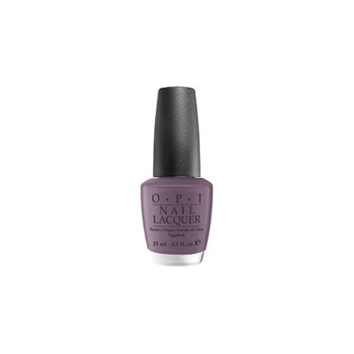 A smoky violet polish