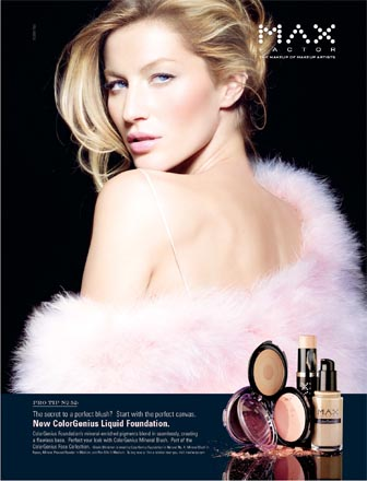 Gisele Bundchen in Max Factor Advertisement