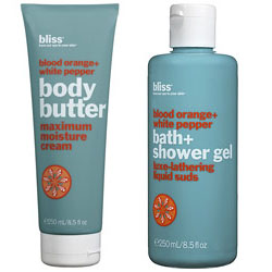 Tuesday Giveaway! Bliss Blood Orange Body Butter & Shower Gel