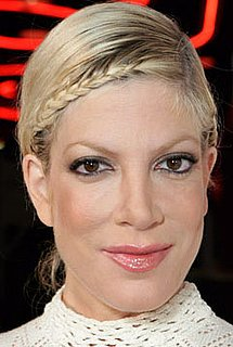 Tori Spelling's Braids are E-A-S-Y