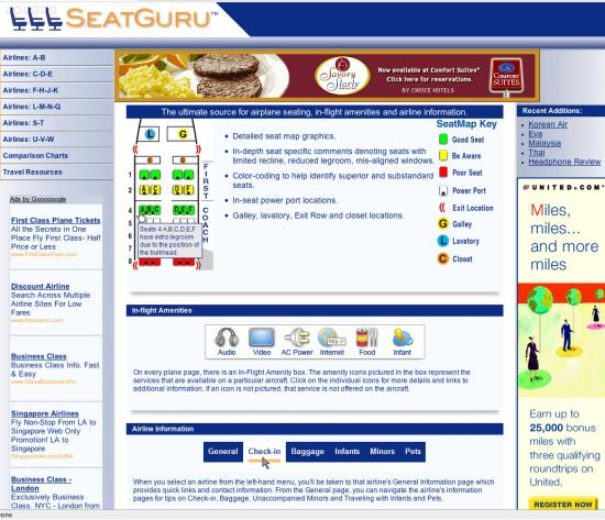 Find Your Seat with SeatGuru