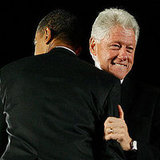 Bill and Barack Bear Hug