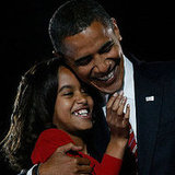 Barack Shows Daughter Malia Love