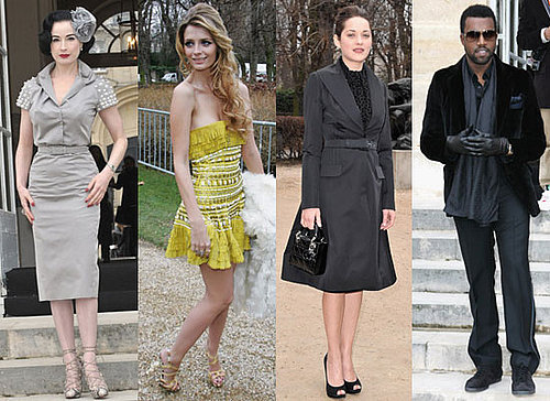 Photos of Marion Cotillard, Kanye West, Mischa Barton, Dita Von Teese at Paris Haute Couture, Plus Mischa With Luke Pritchard