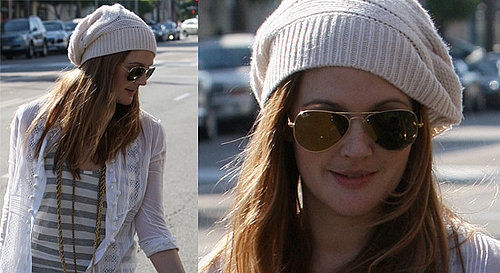 Drew Barrymore Stops Off For A Drink In The Sun