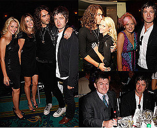 Photos of Noel Gallagher, Russell Brand and His New Love Teresa Palmer at the Silver Clef Music Awards