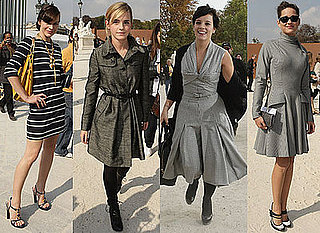 Photos Of Lily Allen, Emma Watson, Marion Cotillard, Katy Perry, Dita von Teese, Milla Jovovich at Paris Fashion Week