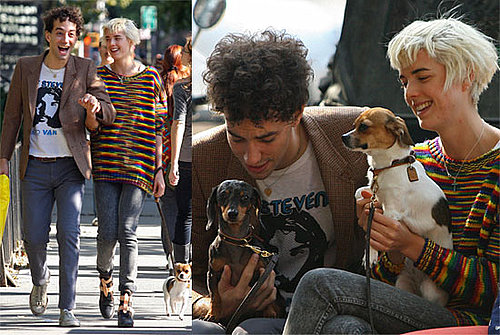 Photos Of Agyness Deyn and Albert Hammond Jr In New York With Their New Puppies