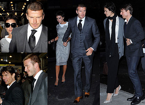 Photos Of David Beckham and Victoria Beckham With Tom Cruise and Katie Holmes in New York City