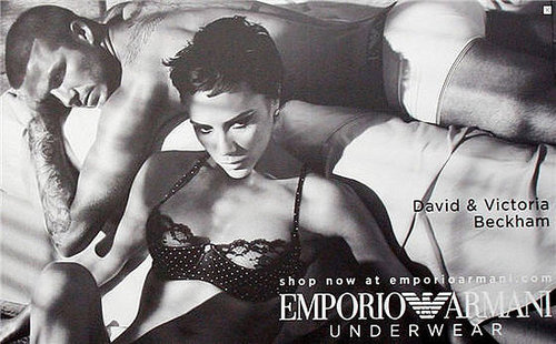 Fab Ad: David and Victoria Beckham for Armani Lingerie