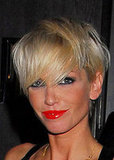 Photo of Sarah Harding with Bright Red Lipstick Shiny Pout Lips. Pick of the Best Vamp Red Lipsticks