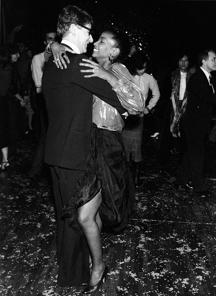 1980: Yves Saint Laurent dancing with Diana Ross at a UNICEF fundraiser in Paris.