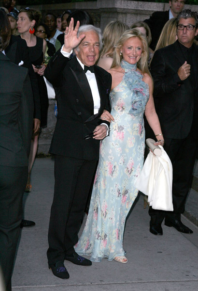Ralph and Ricky Lauren, in his design.