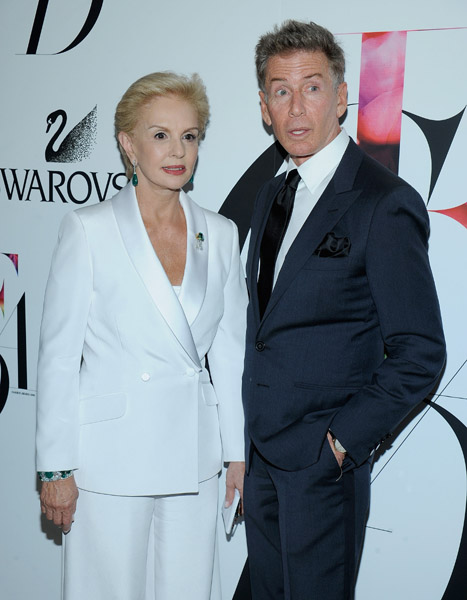 Carolina Herrera and Calvin Klein.