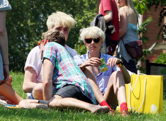 Henry Holland, Nick Grimshaw, and Agyness Deyn.