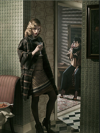 Iselin Steiro, Kinga Rajzak Give Fall 2008 Missoni Their Prints