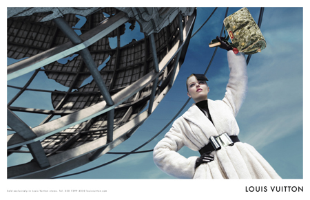 Eva Herzigova, Louis Vuitton Unite In Front of Unisphere