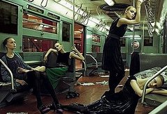 Alberta Ferretti Fall 2008 Gives Girls the Subway Slump