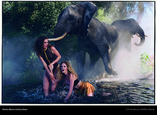 Bugs, Elephants, and Models Unite in Botswana for Pirelli 2009