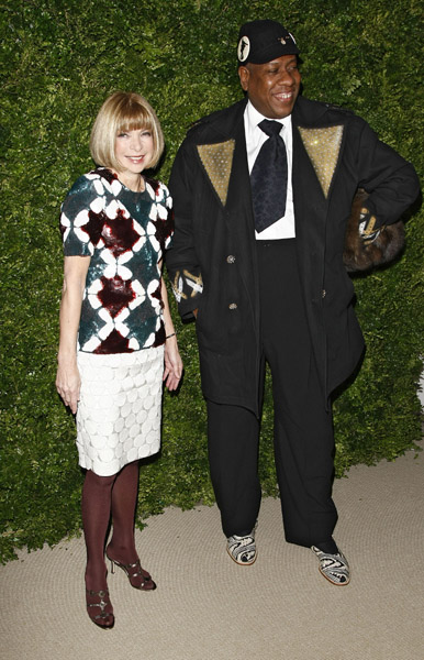 Anna Wintour and Andre Leon Talley.