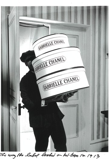 Hat boxes from 1913 with authentic labels.