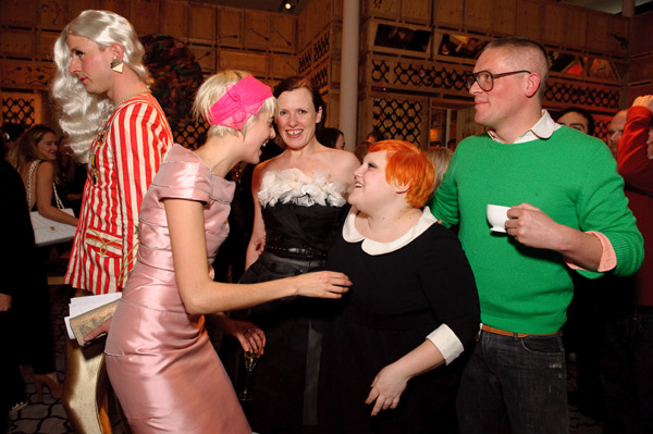 Agyness Deyn, Katie Grand, Beth Ditto, and Giles Deacon.