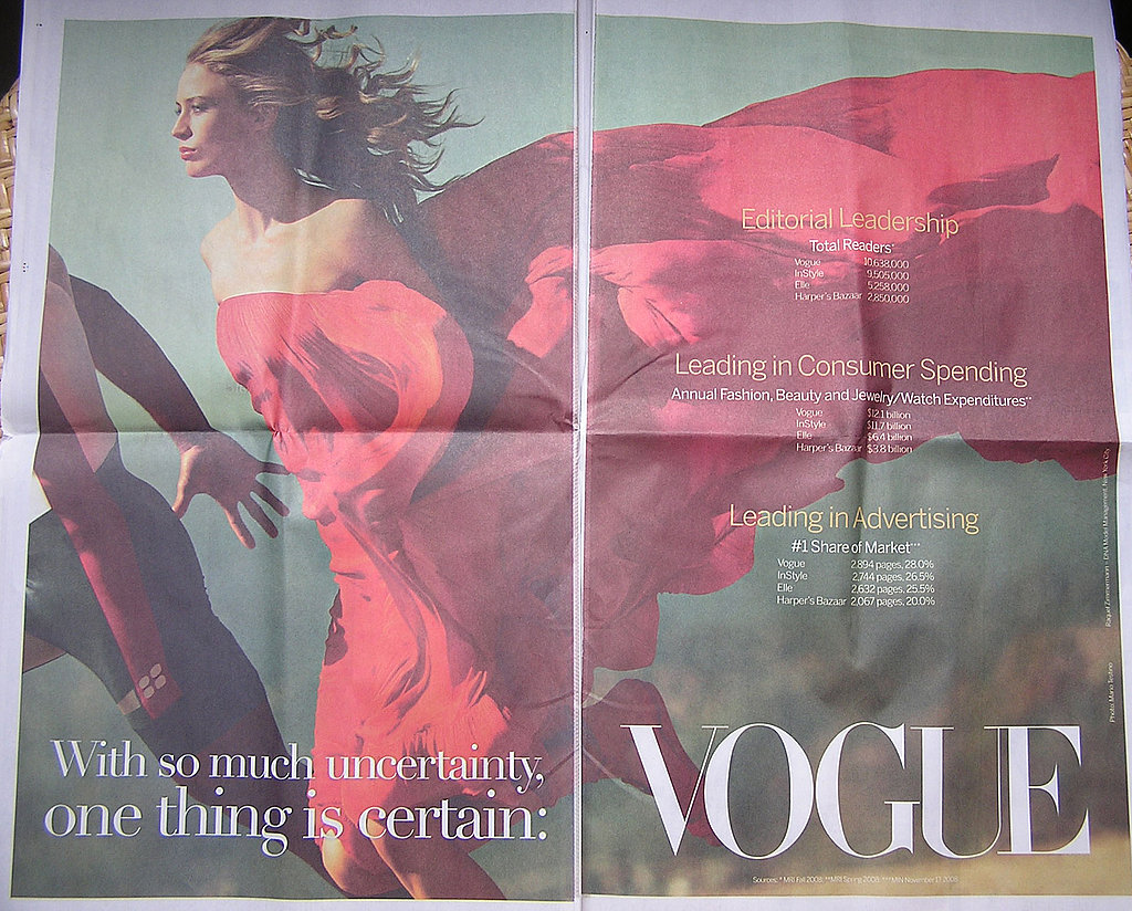 Vogue Touts Its Certainty in New York Times
