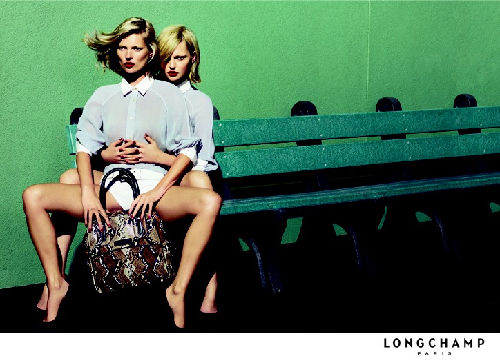 Kate Moss and Sasha Pivovarova Pair Up for Longchamp Spring 2009