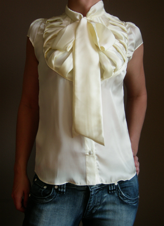 What I want right now - Tie Neck Blouse