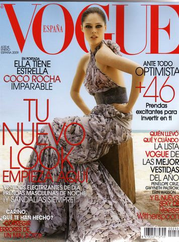 Vogue España January 2009:Coco Rocha by Arthur Elrgot