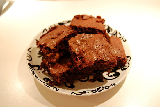 Zingerman's style brownies with toasted walnuts.