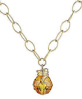 Just Cavalli - Yellow Zircon Necklace - eLuxury