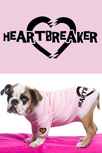 Heartbreaker baby rib dog tee { by Aubrey O&#039;Day }