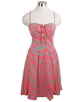 Retro Red &amp; White Gingham Mary Anne Rockabilly Dress ($45)