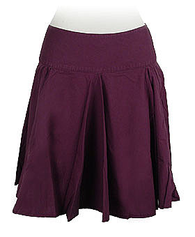 Plum Purple Poplin Skirt by Colcci ($53.20)