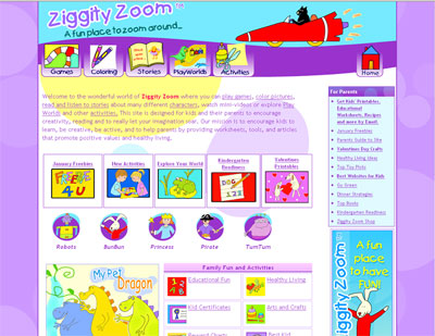 Website of the Day: Ziggity Zoom 