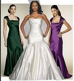 Which Color would look best with the wedding dress?