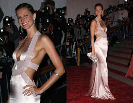 Gisele Bundchen  wearing a Versace gown - Flashy or Trashy?