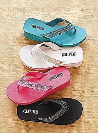 Sequin thong sandal