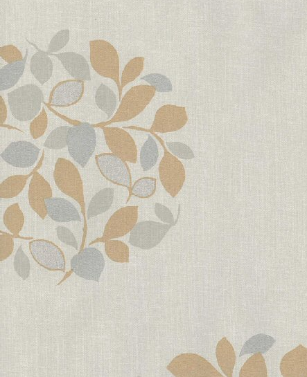 You can get a similar wallpaper to that in Serena's room with the Grey Leaf Circle Wallpaper ($15.94 per yard).