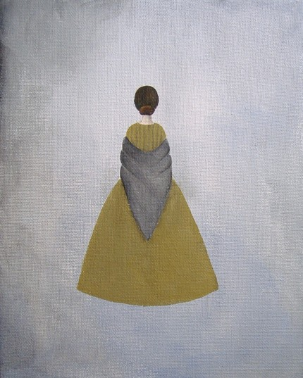 I'm in love with the complementary yellows and grays in The Governess ($18) from Etsy seller Kirby.